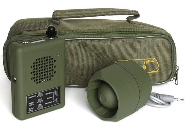 Электронный манок Егерь-5 с сумкой и внешним динамиком MS (приобретаются отдельно)