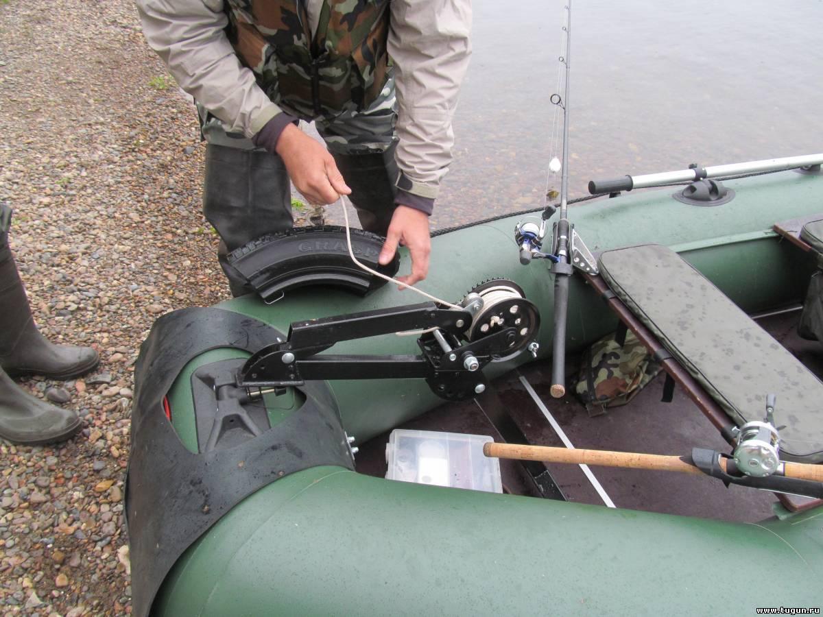 Как сделать лебедку для лодки 25
