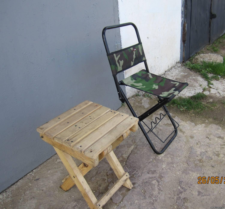 Самодельный складной стульчик для рыбалки