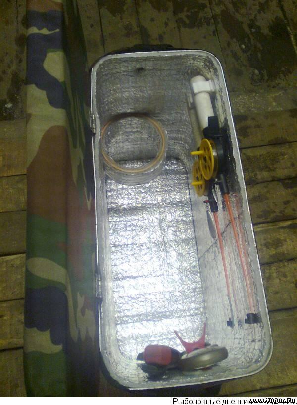 Рыбацкий ящик из морозилки