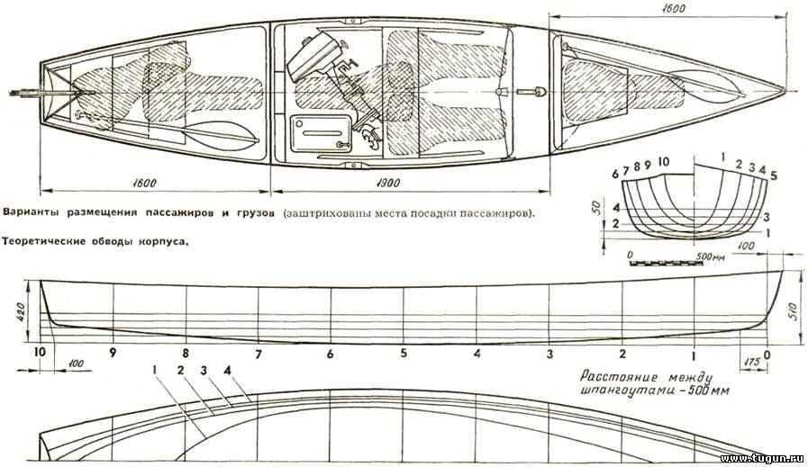лодка утенок чертежи
