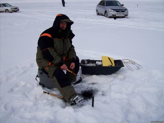 Зимняя рыбалка на красноярском водохранилище