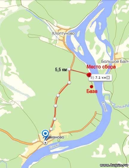 Карта и схема проезда до места
