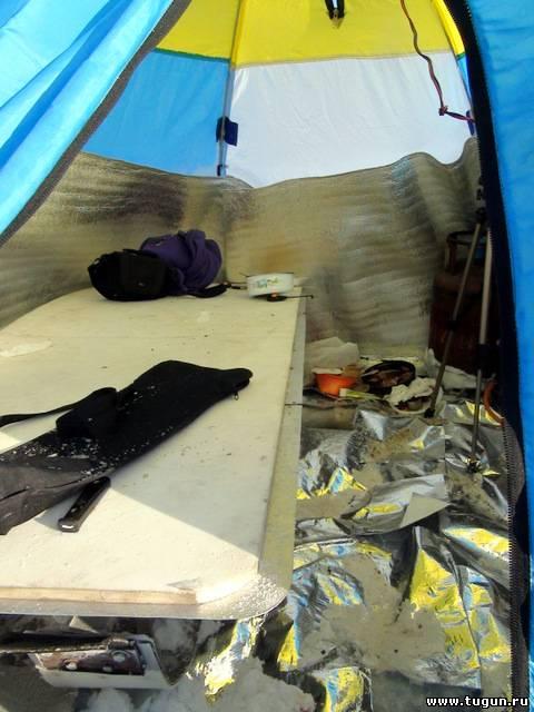 Как утеплить палатку на зиму