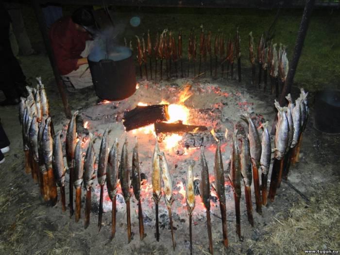 Рыба на костре в фольге рецепты