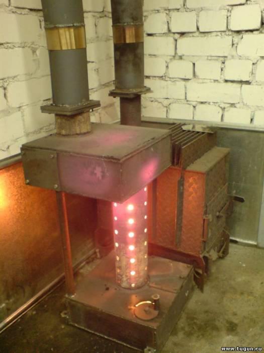 Масляная печь для гаража  видео
