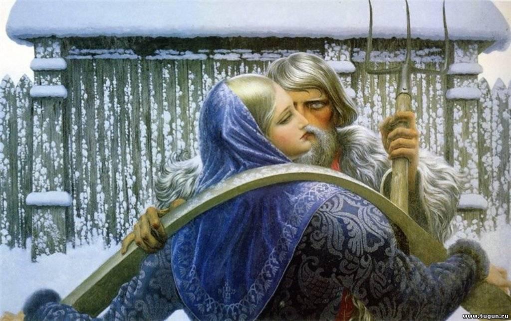 Рисунок зима нетрадиционным методом 4