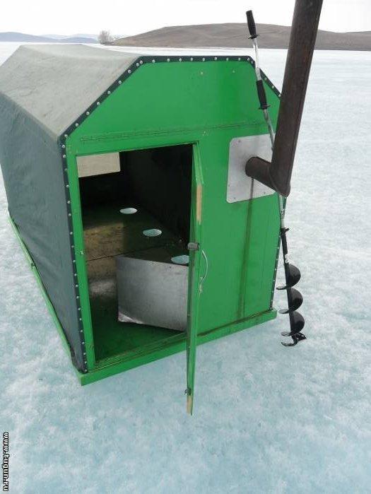 Домики для зимней рыбалки своими руками