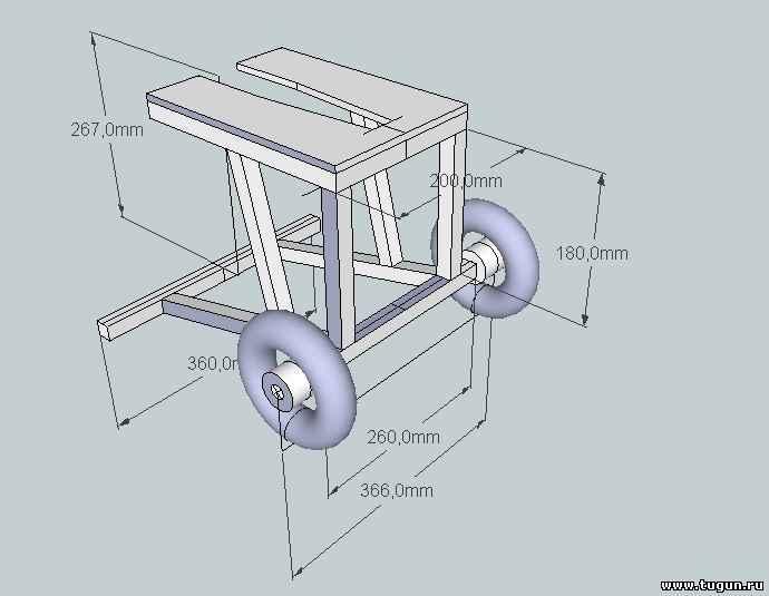 Чертеж тележки для лодочного мотора своими руками чертежи