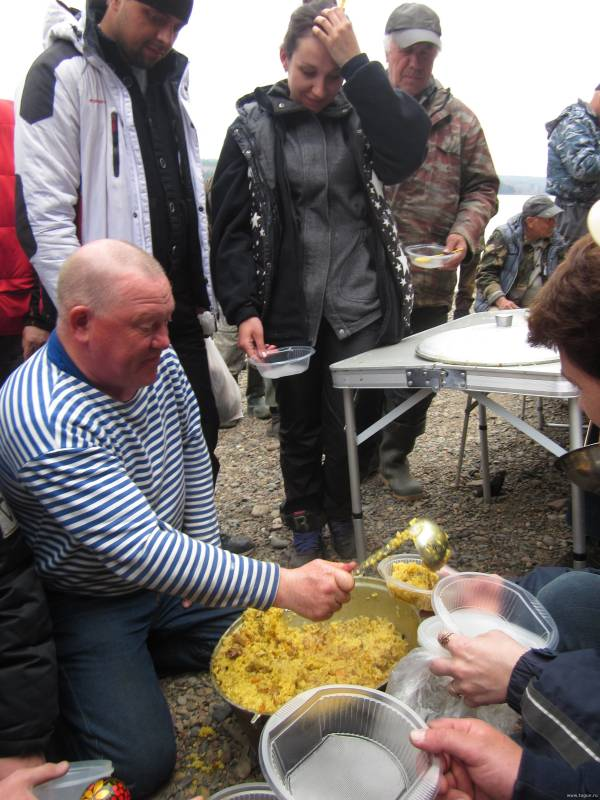 узбекский плов на рыбалке